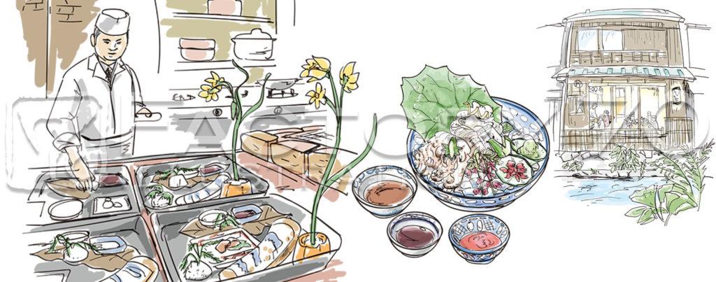 グルメ雑誌「あまから手帖」連載のイラストを制作しました。 企画の内容 居酒屋探訪の著作が数多くあり、テレビ出演でも知られる太田和彦さんの連載記事。大阪・京都の割烹を味わう。居酒屋よりも確かにハイクラスだけれども料亭ほどは […]